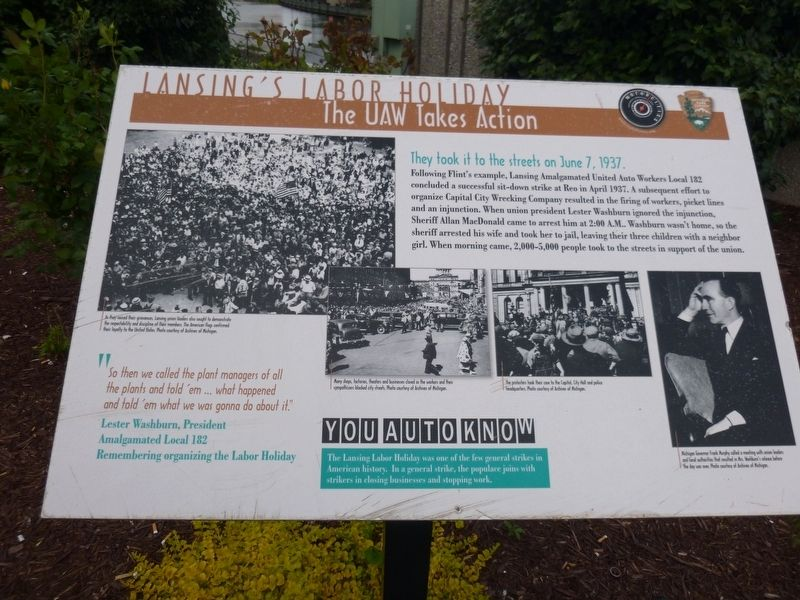 Lansing's Labor Holiday Marker image. Click for full size.