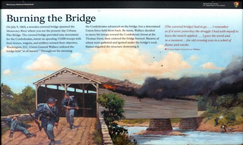 Burning the Bridge Marker image. Click for full size.