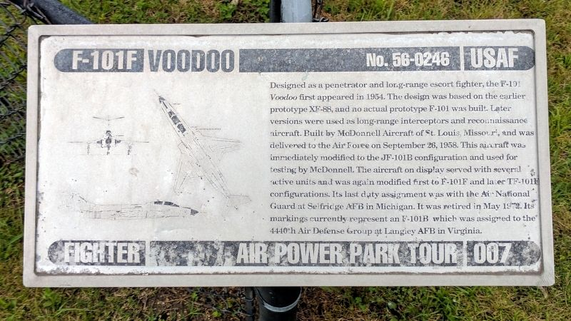 F-101F Voodoo Marker image. Click for full size.