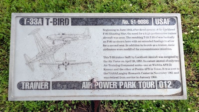 T-33A T-Bird Marker image. Click for full size.