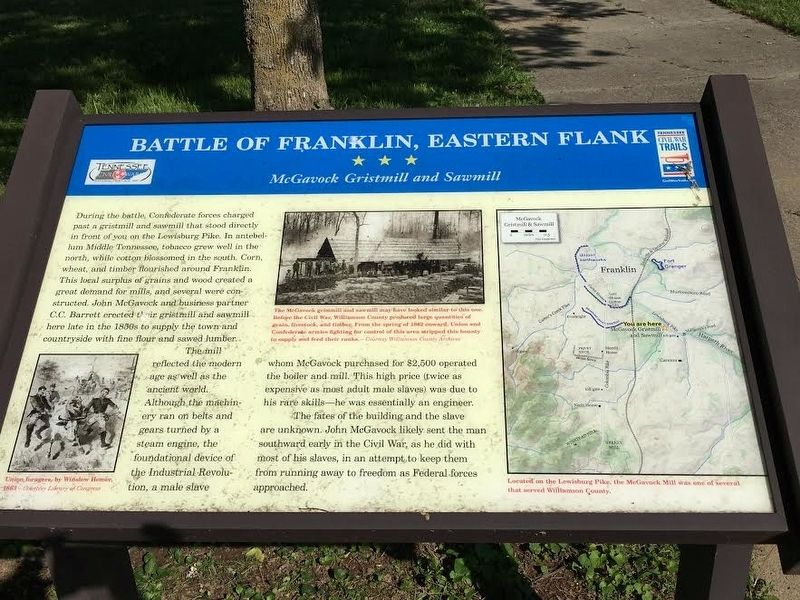 Battle of Franklin, Eastern Flank Marker image. Click for full size.