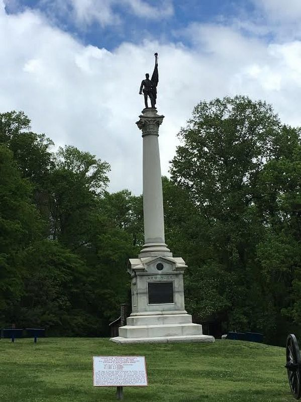 The New York Monument on Lookout Mountain at Cravens House image. Click for full size.