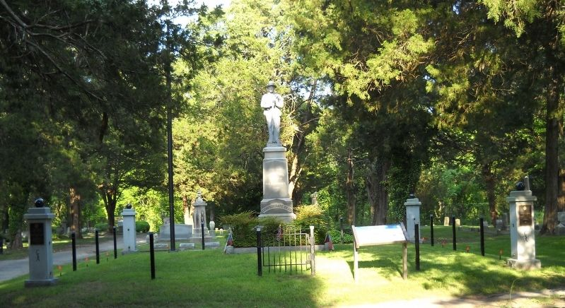 Site of the Confederate Monument. image. Click for full size.