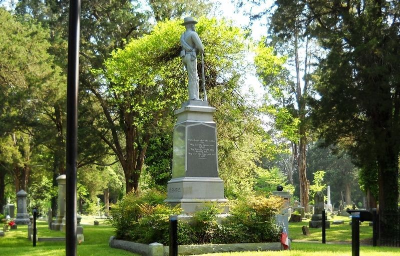 A right side (north) view of the Confederate Monument. image. Click for full size.