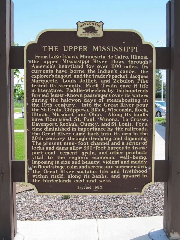 The Upper Mississippi Marker image. Click for full size.