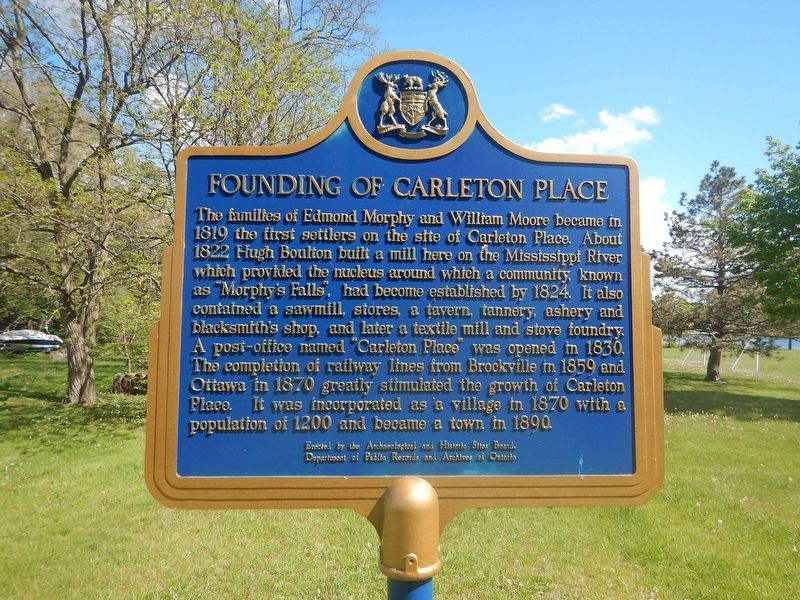 Founding of Carleton Place Marker image. Click for full size.