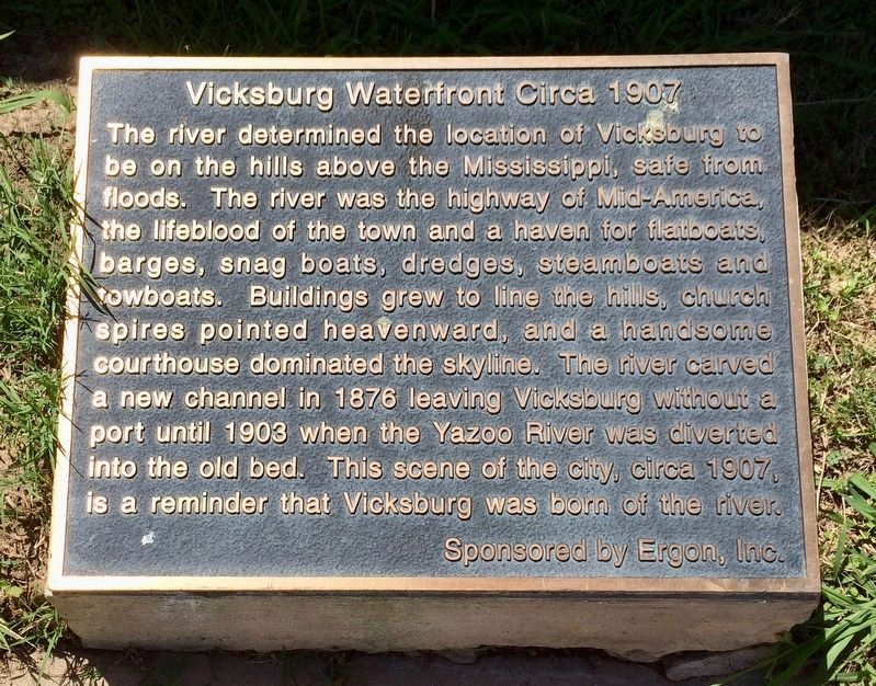 Vicksburg Waterfront Circa 1907 Marker image. Click for full size.