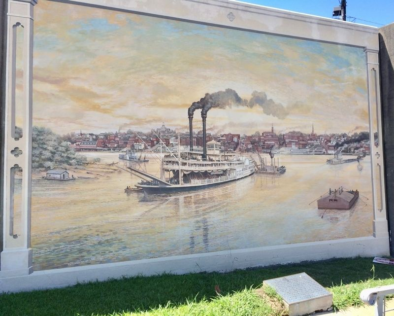 Vicksburg Waterfront Circa 1907 Mural image. Click for full size.