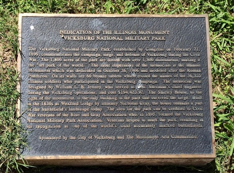 Dedication of the Illinois Monument Marker image. Click for full size.