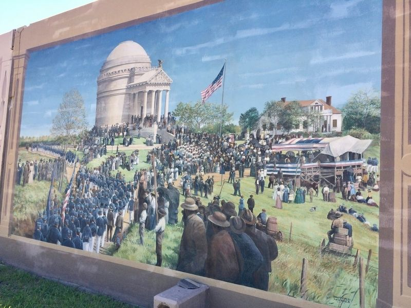 Dedication of the Illinois Monument mural. image. Click for full size.