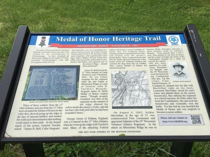 Medal of Honor Heritage Trail Marker image. Click for full size.