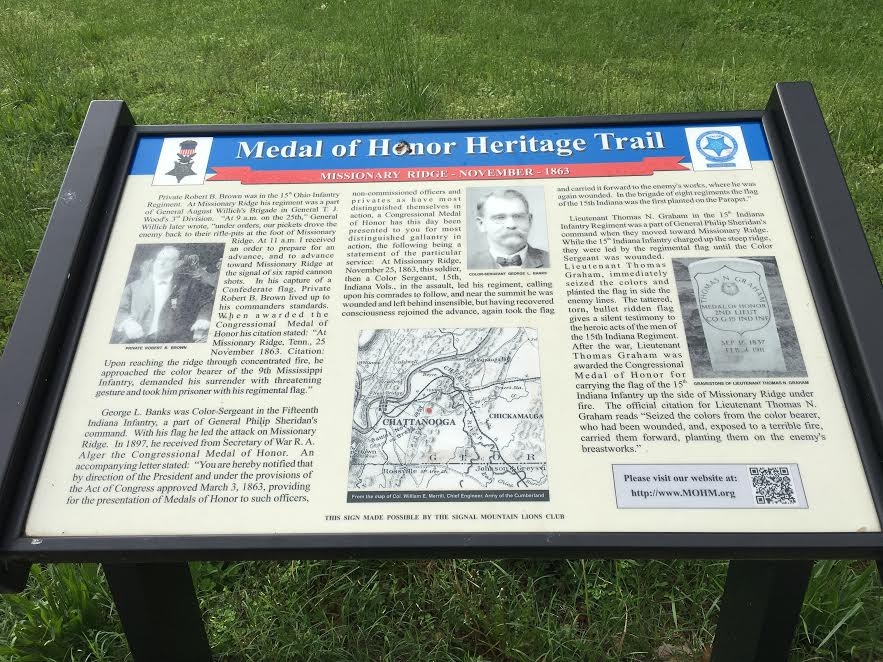 Medal of Honor Heritage Trail Marker