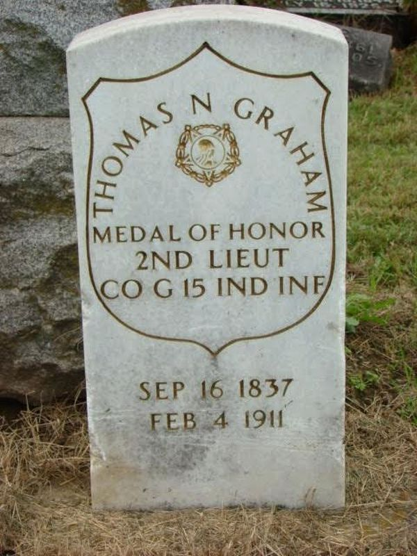 Gravestone of Lieutenant Thomas N. Graham image. Click for full size.
