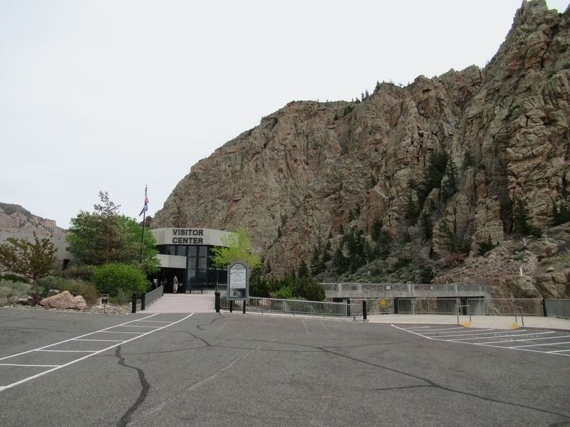 The Buffalo Bill Dam Visitor Center image. Click for full size.