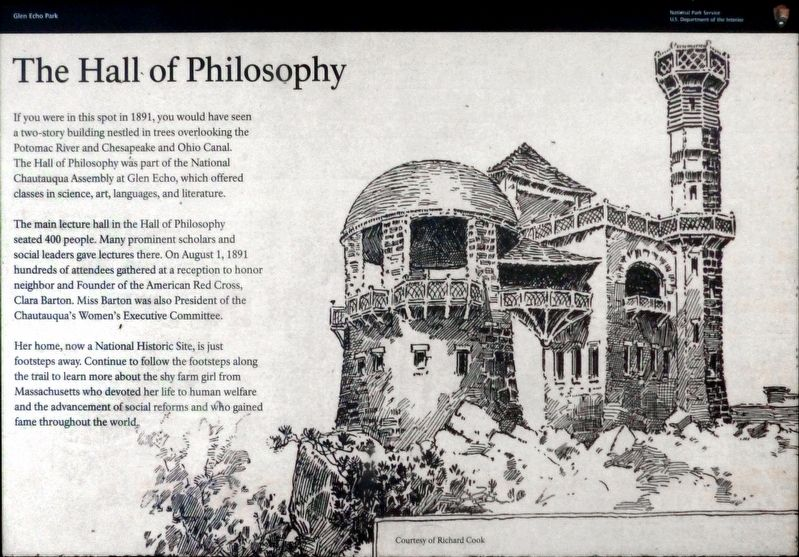 The Hall of Philosophy Marker image. Click for full size.