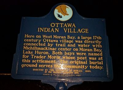 Ottawa Indian Village Marker image. Click for full size.