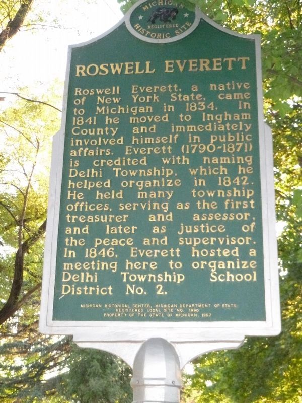 Roswell Everett Marker image. Click for full size.