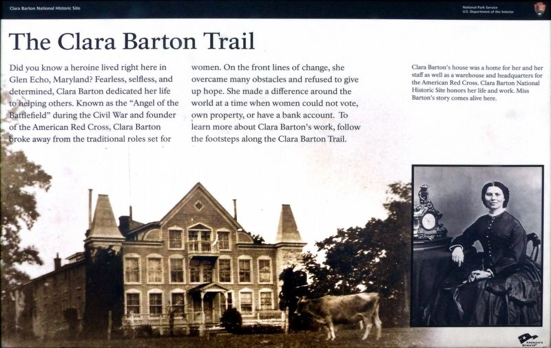 The Clara Barton Trail Marker image. Click for full size.