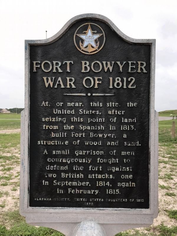 Fort Bowyer War of 1812 Marker image. Click for full size.