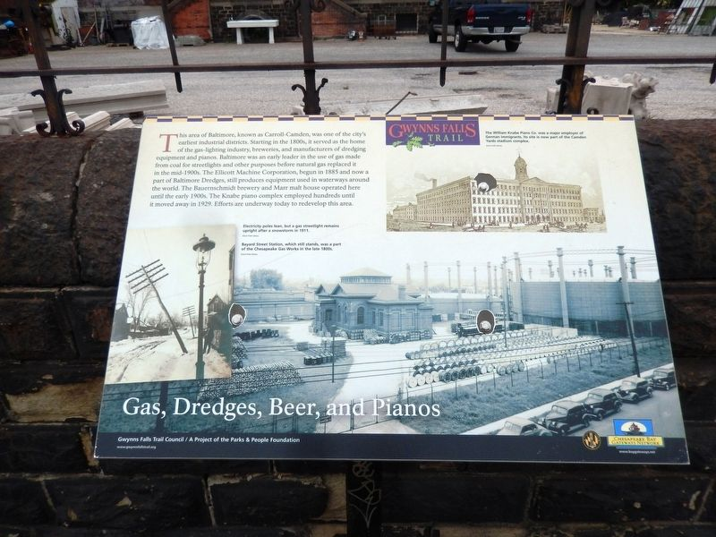 Gas, Dredges, Beer, and Pianos Marker image. Click for full size.
