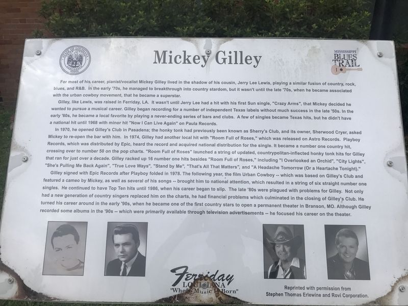 Mickey Gilley Marker image. Click for full size.