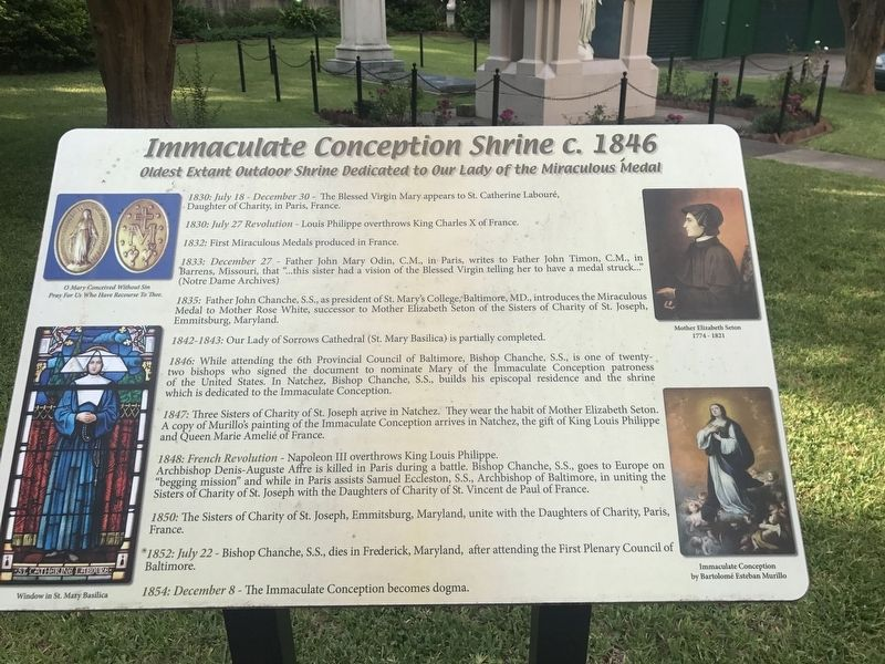 Immaculate Conception Shrine c. 1846 Marker image. Click for full size.