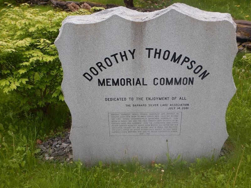 Another Dorothy Thompson Memorial Common Marker image. Click for full size.