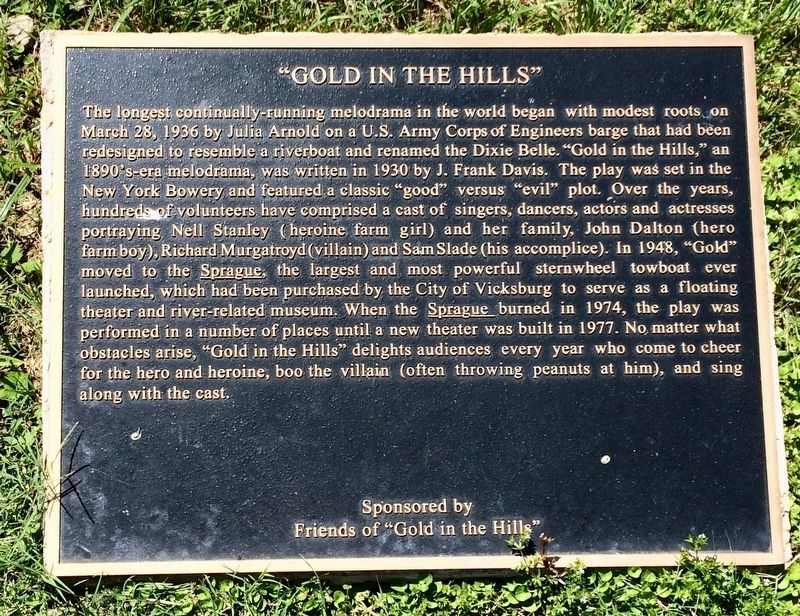 """Gold in the Hills"" Marker image. Click for full size."