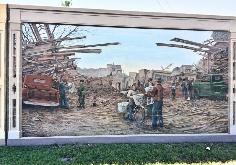 """The 1953 Vicksburg Tornado"" Mural image. Click for full size."