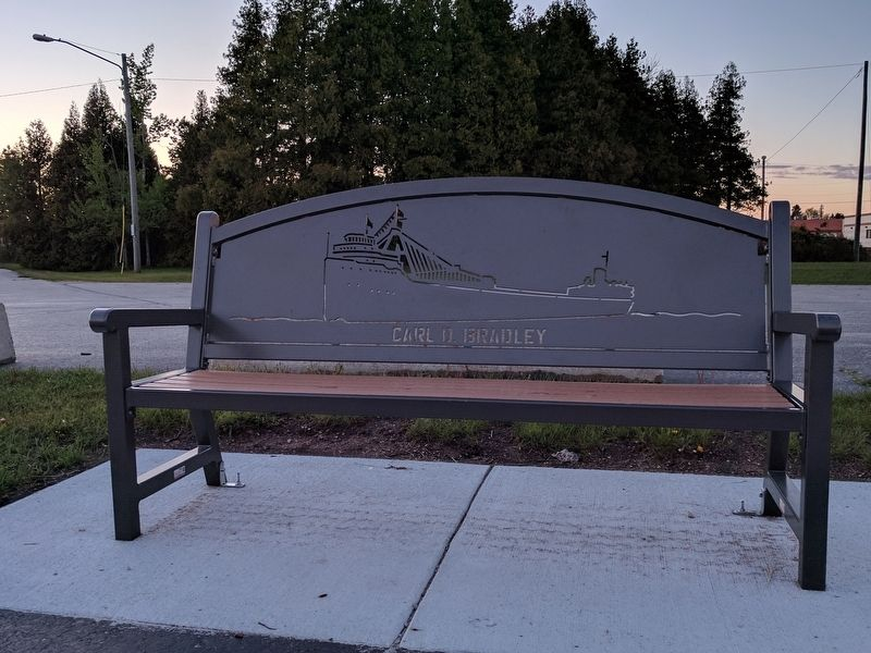 Carl D. Bradley Memorial Bench image. Click for full size.