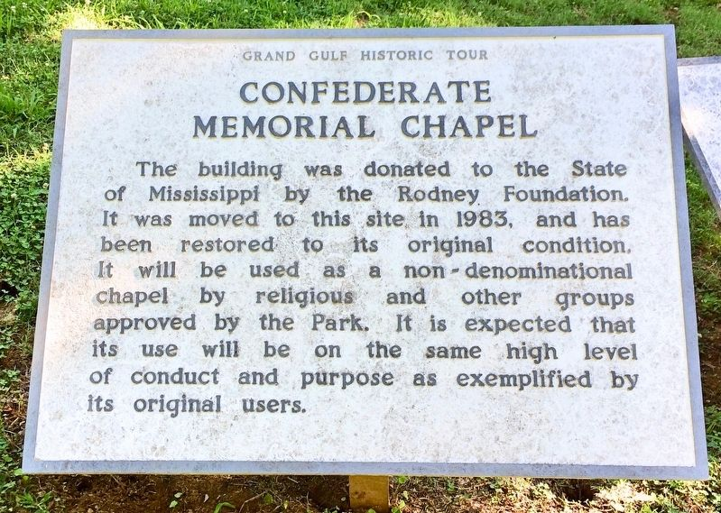 Confederate Memorial Chapel Marker image. Click for full size.