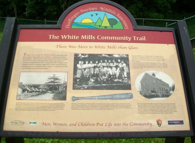 There Was More to White Mills than Glass Marker image. Click for full size.