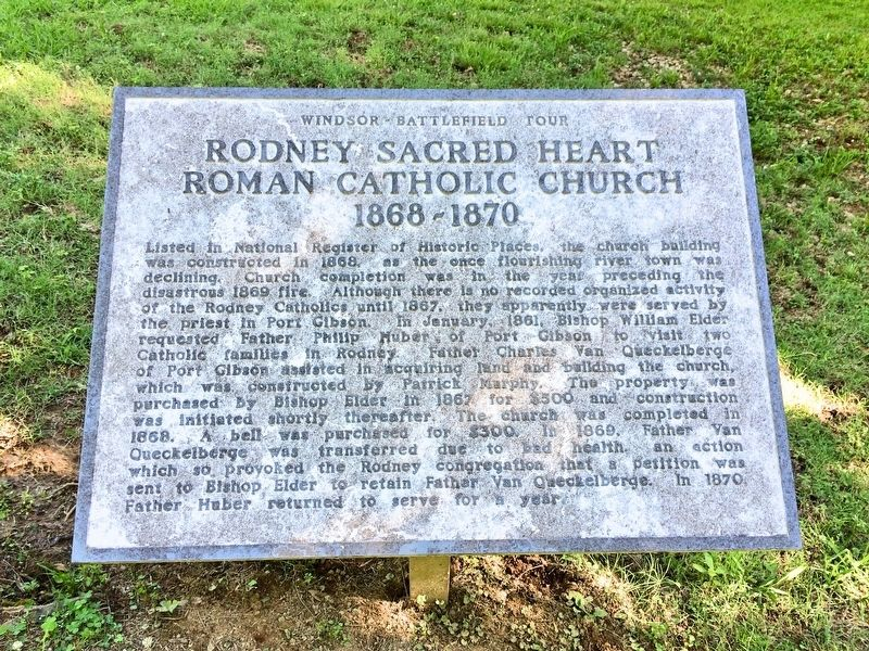 Rodney Sacred Heart Roman Catholic Church Marker image. Click for full size.