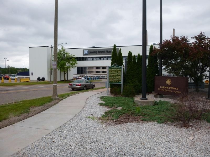 General Motors Grand River plant, the site of Oldsmobile assembly plant. image. Click for full size.