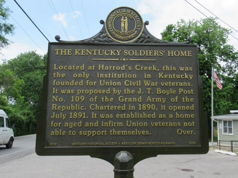 The Kentucky Soldiers' Home Marker image. Click for full size.