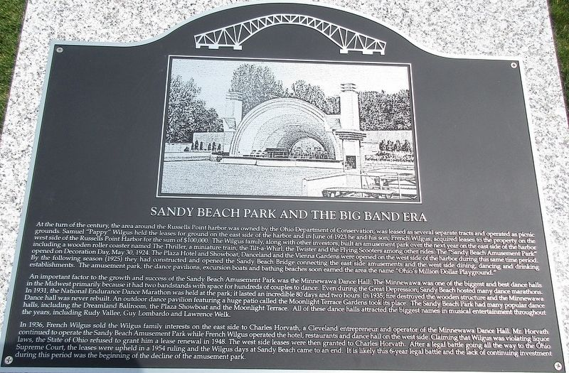 Sandy Beach and the Big Band Era Marker image. Click for full size.