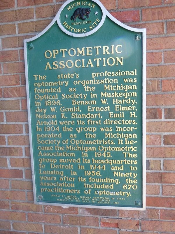 Michigan Optometric Association Marker image. Click for full size.