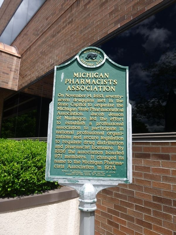 Michigan Pharmacists Association Marker image. Click for full size.