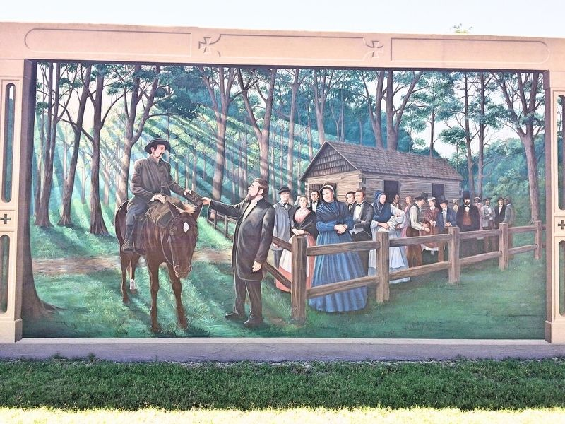 """The Founding of Vicksburg and Methodism"" Mural image. Click for full size."