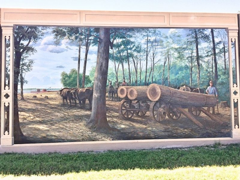 """Logging on the River"" Mural image. Click for full size."