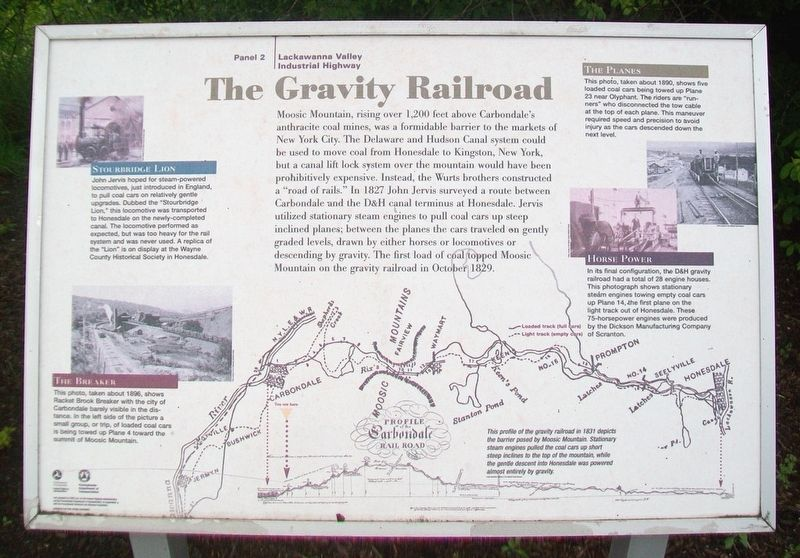 The Gravity Railroad Marker image. Click for full size.
