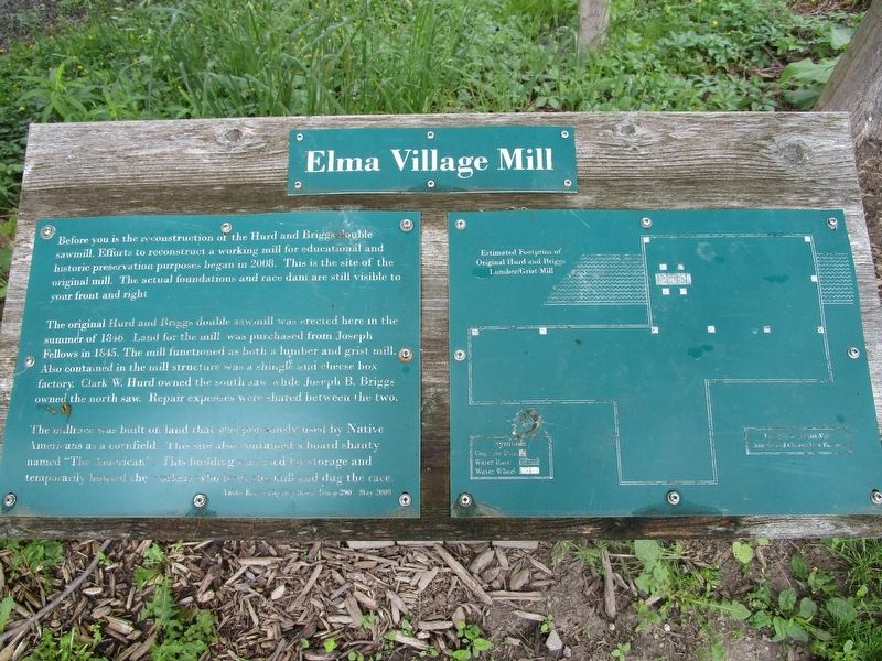 Elma Village Mill Marker image. Click for full size.