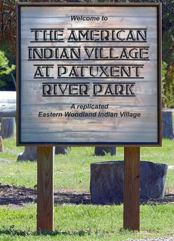 Welcome to The American Indian Village at Patuxent River Park image. Click for full size.