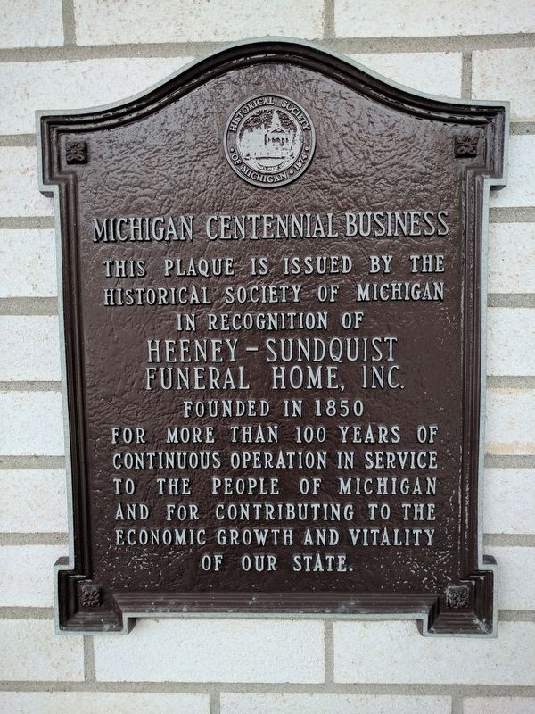 Heeney-Sundquist Funeral Home, Inc. Marker image. Click for full size.