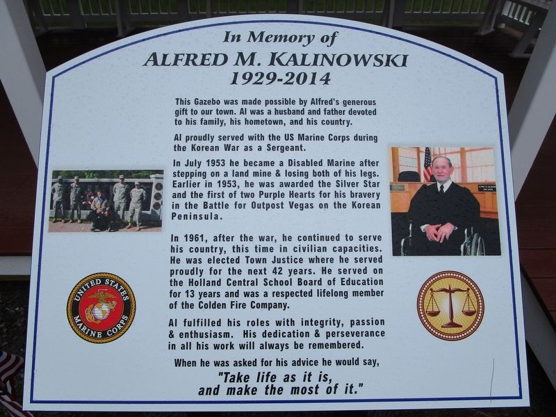 In Memory of Alfred M. Kalinowski Marker image. Click for full size.