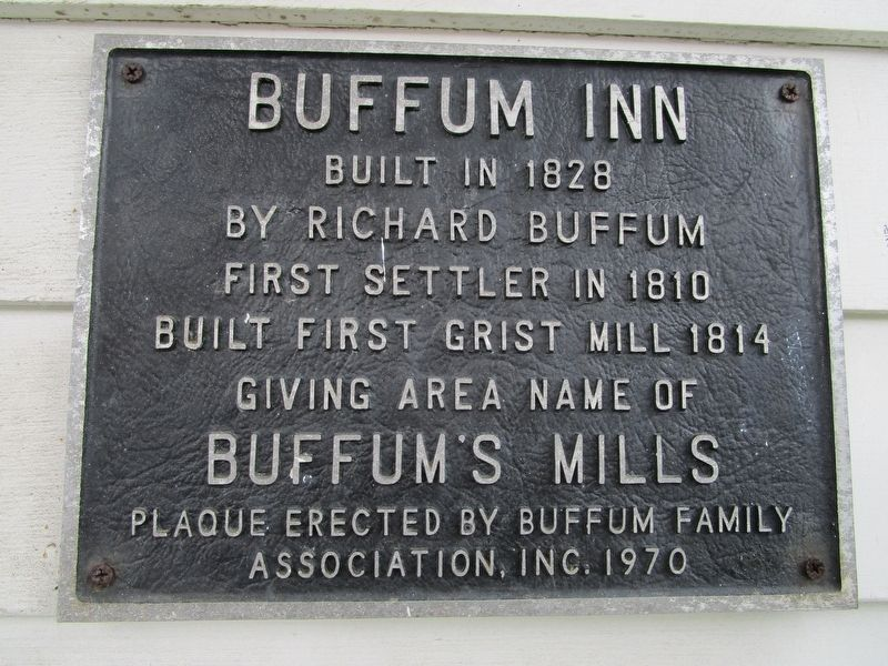 Buffum Inn Marker image. Click for full size.