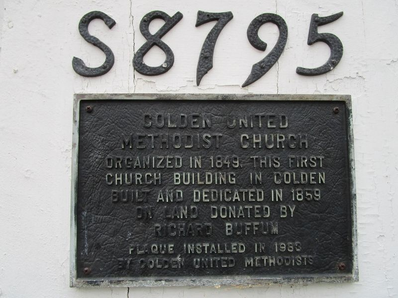 Colden United Methodist Church Marker image. Click for full size.