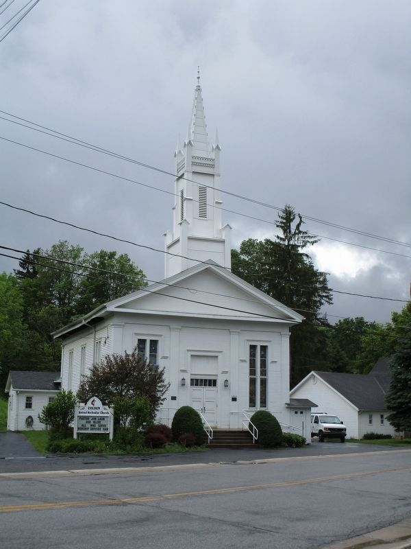 Colden United Methodist Church & Marker image. Click for full size.
