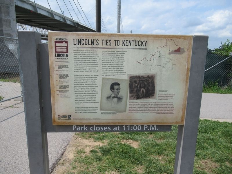 Lincoln's Ties To Kentucky Marker image. Click for full size.
