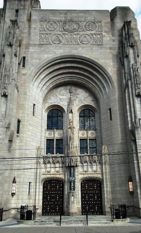 Masonic Temple and Scottish Rite Cathedral Entrance image. Click for full size.